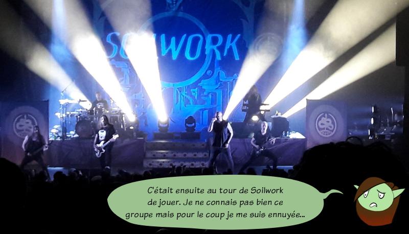 Photo de Soilwork. Petit Lutin s'est ennuyée pendant leur show.