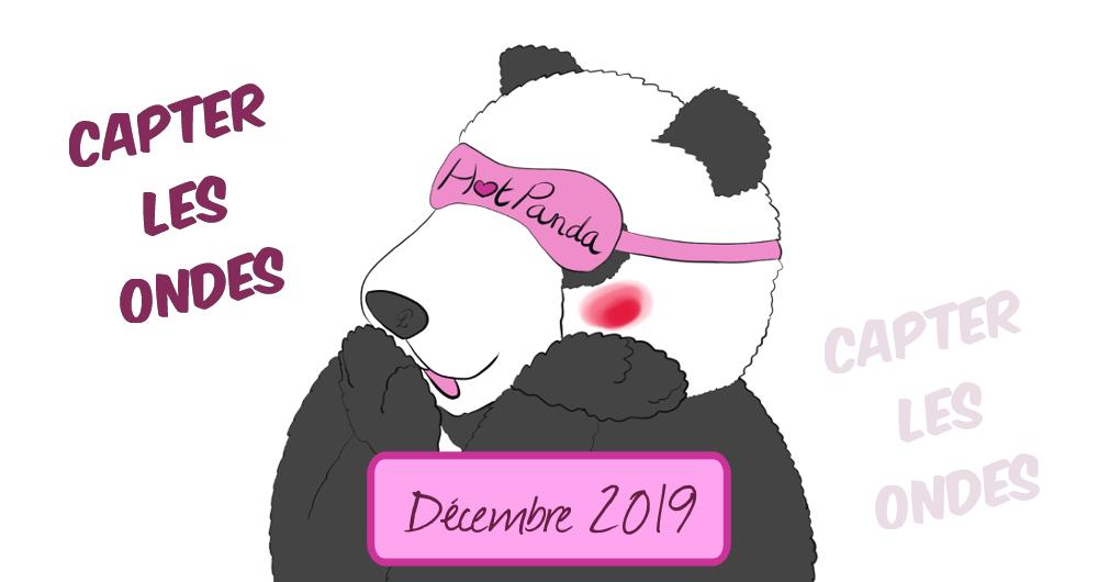 """dessin panda qui fait huhu pour illustrer """"HotPanda n°22 décembre 2019 : capter les ondes"""""""