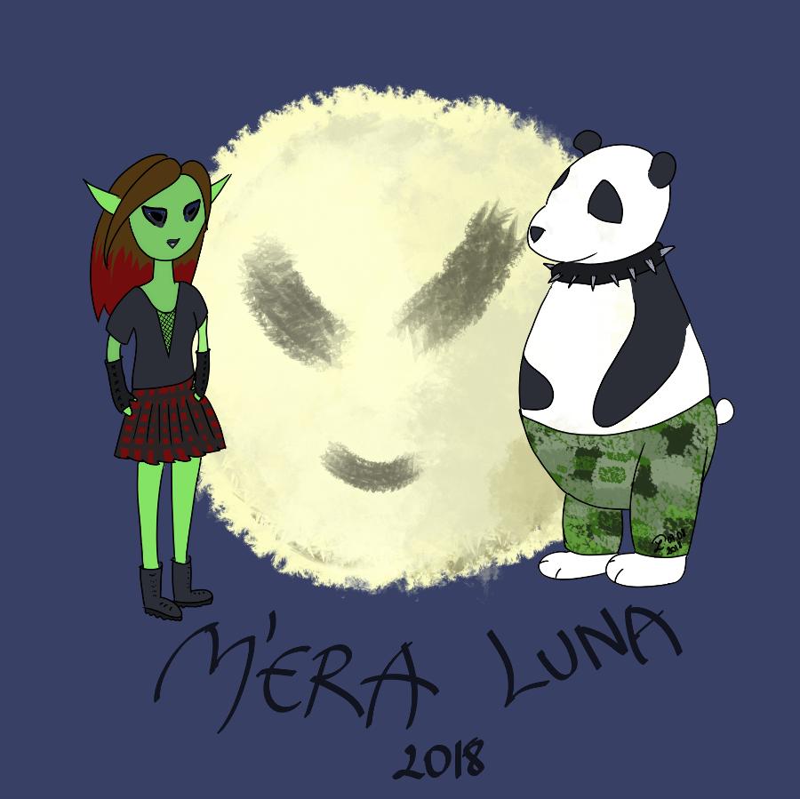Illustration de petit lutin artiste en 2018 en l'honneur du mera luna 2018