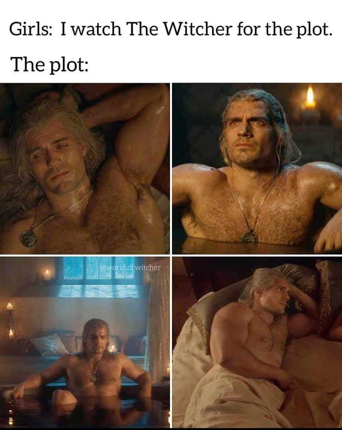 "Girls ""I watch The Witcher for the plot"", the plot : photos de Geralt torse nu"