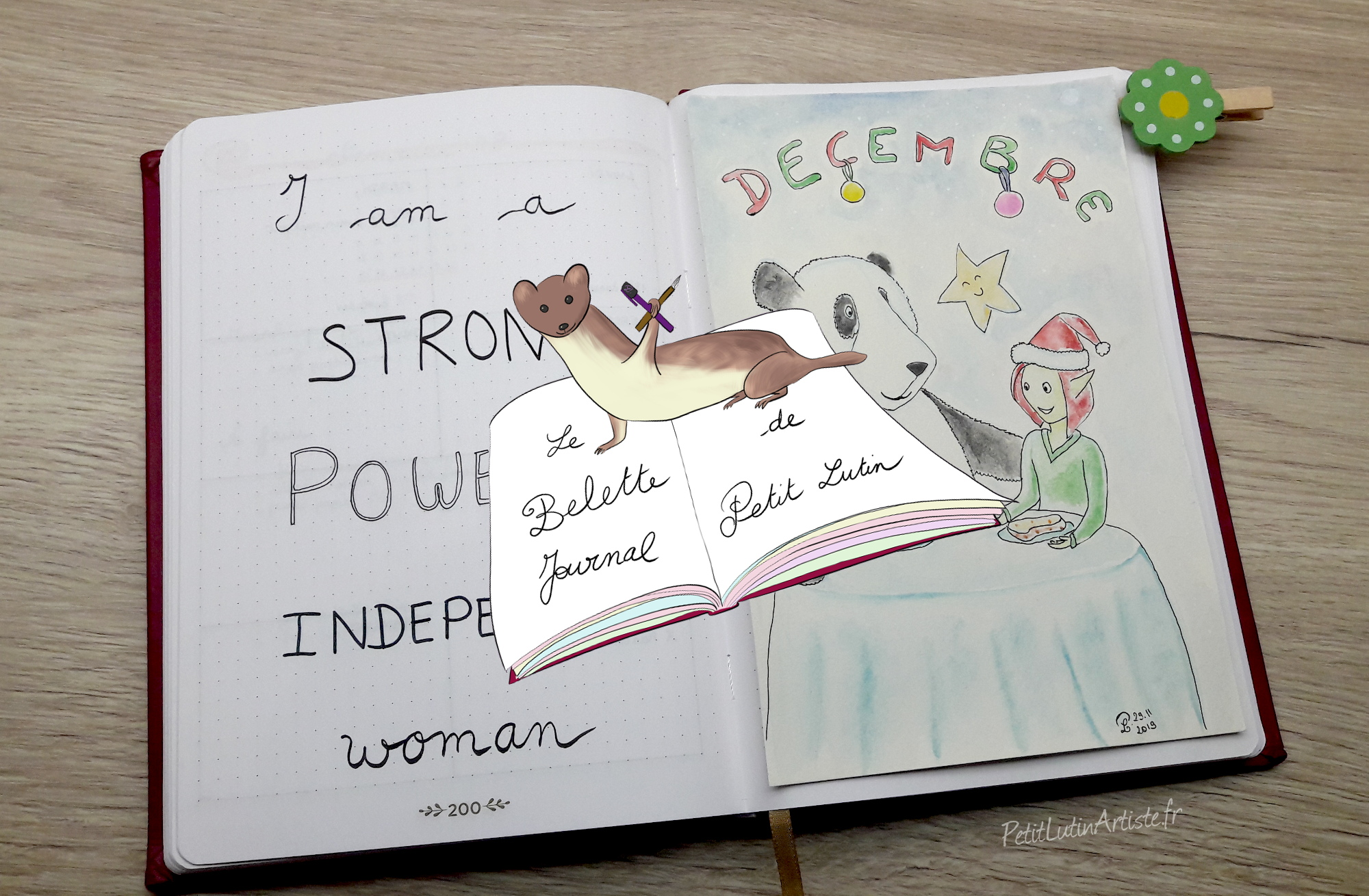 belette journal plan with me decembre 2019