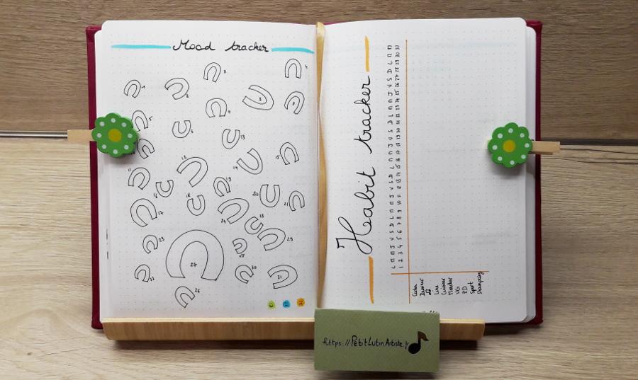 Belette Journal, mon bullet journal de juillet 2019 - mood tracker et habit tracker