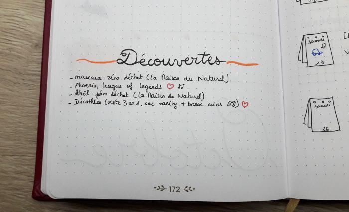 Belette Journal, mon bullet journal, découvertes d'octobre 2019
