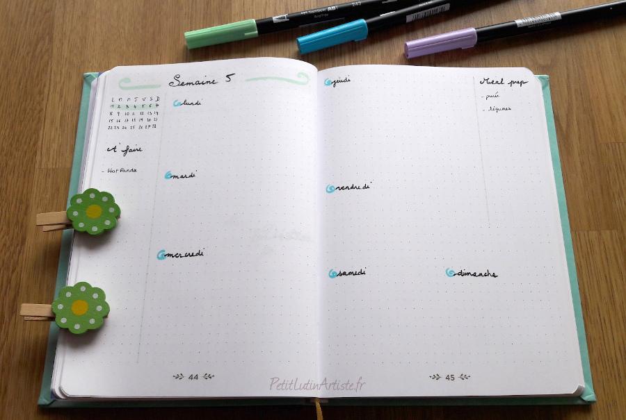 weekly log première semaine de février 2021 dans mon belette journal