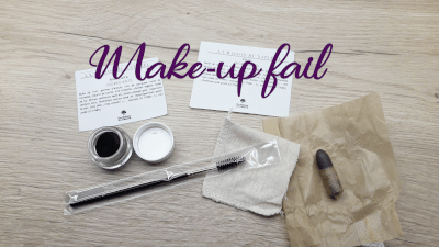 "photo mascara zéro déchet avec écrit ""make up fail"""