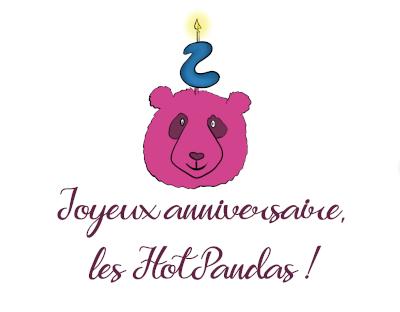 logo hotpanda avec une bougie pour les deux ans !