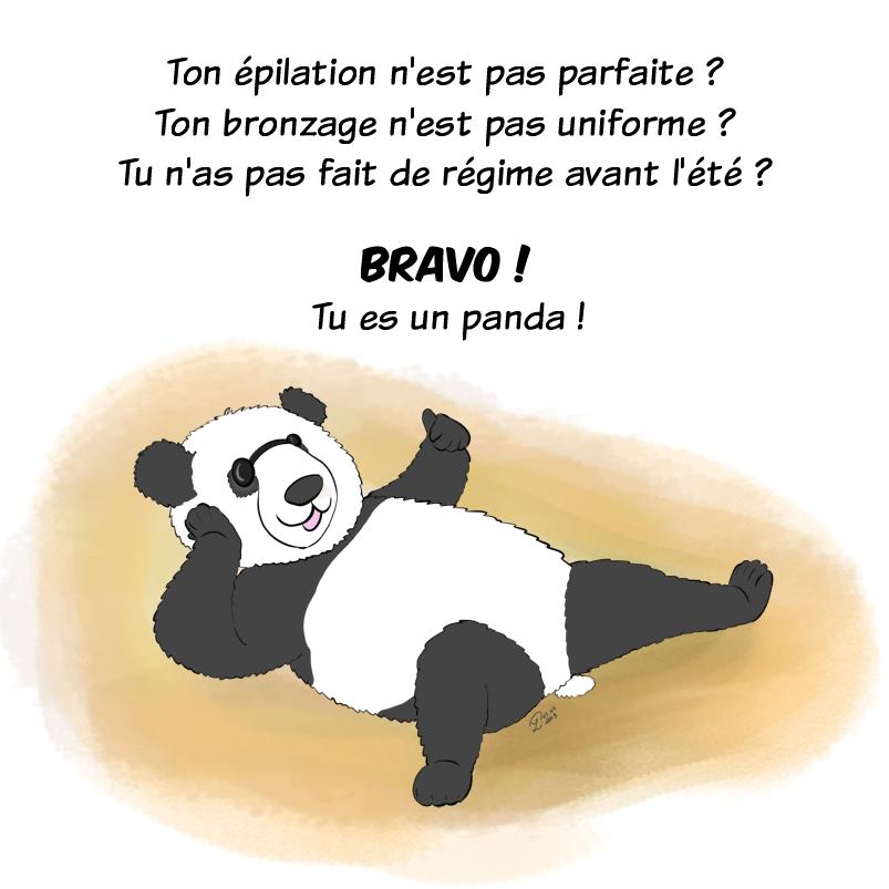 Même contenu mais version 2019, Moustache le panda ressemble un peu plus à un panda et sa fourrure est bien dessinée.