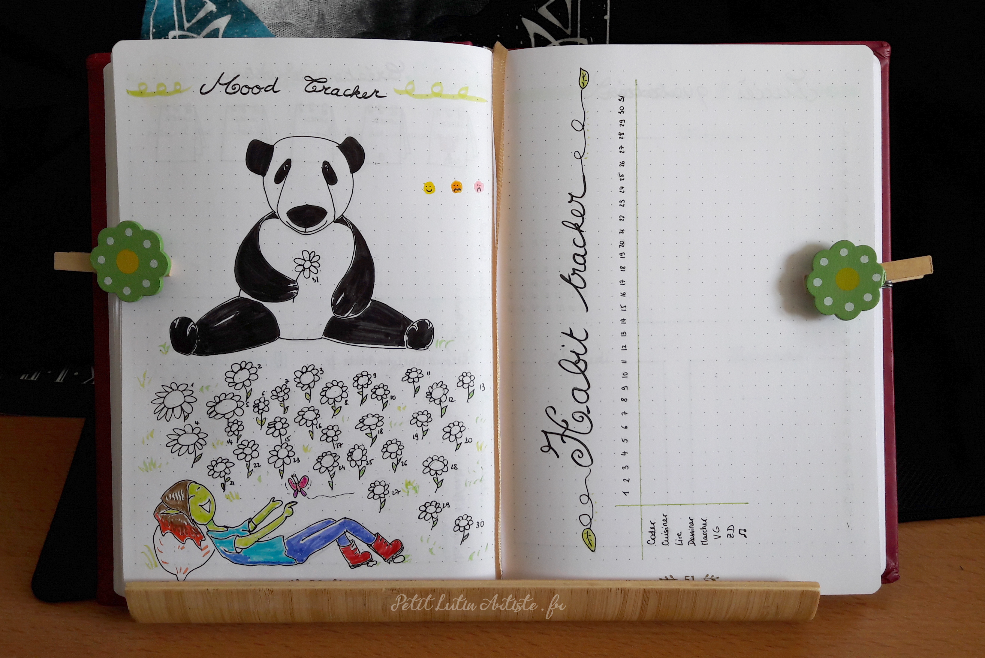Belette Journal, mon bullet journal de mars 2019 - mood tracker et habit tracker