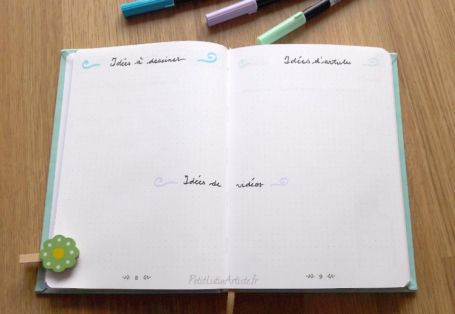 double page idées à dessiner, idées d'articles, idées de vidéos